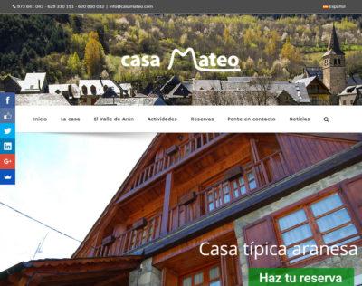 Nueva web de Casa Mateo